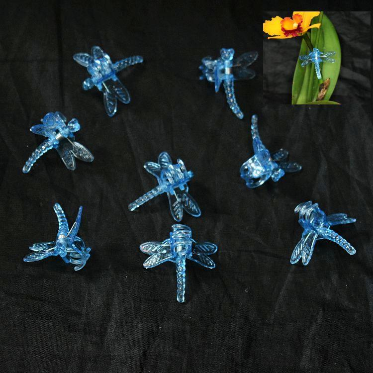 (10 Pack) Blue Plastic Dragonfly Clips by Sophie's Orchids